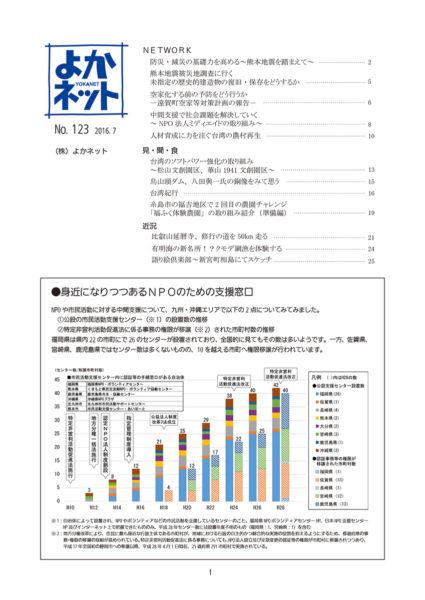 2016年7月号 (No.123)