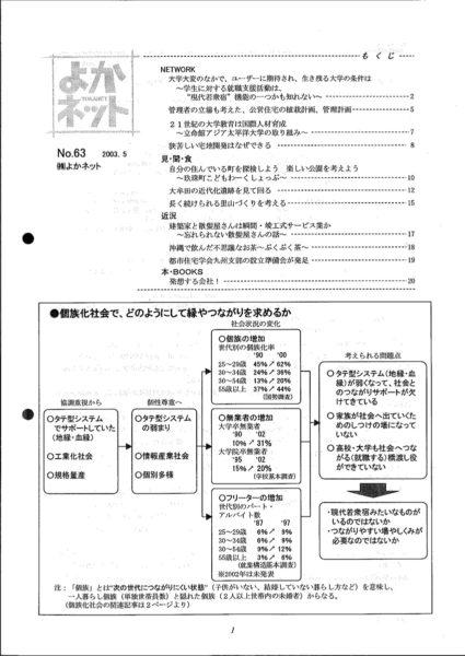 2003年5月号 (No.63)