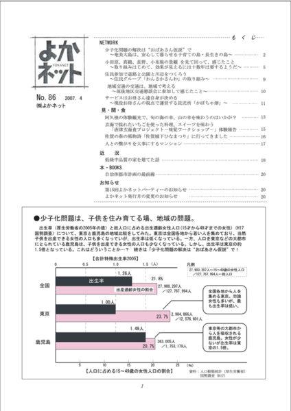 2007年4月号 (No.86)